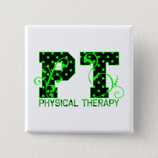 pt 2 black and green polka dots pinback button