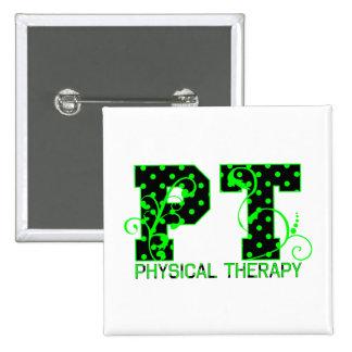 pt 2 black and green polka dots pinback button