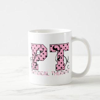 pt black and pink polka dots coffee mug