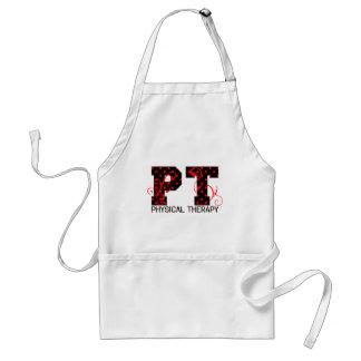 pt black red polka dots adult apron