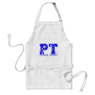 pt blue white polka dots adult apron