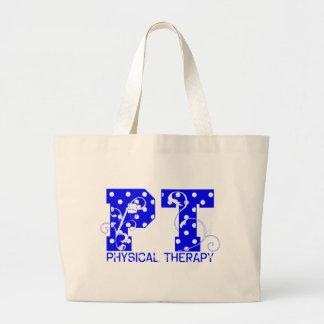 pt blue white polka dots tote bag