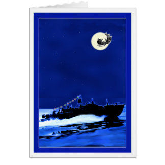 PT Boat ChristmasCard 4 Greeting Card