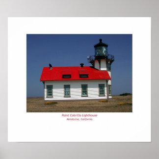 Pt. Cabrillo Lighthouse, Mendocino, CA Poster