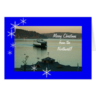 Pt. Defiance Ferry Christmas Greeting Card