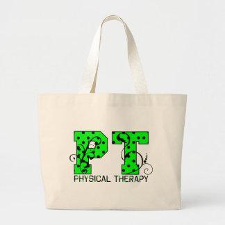 pt green and black polka dots bags