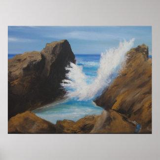 Pt Lobos Wave Poster