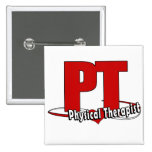 PT LOGO BIG RED    Physical Therapist Buttons