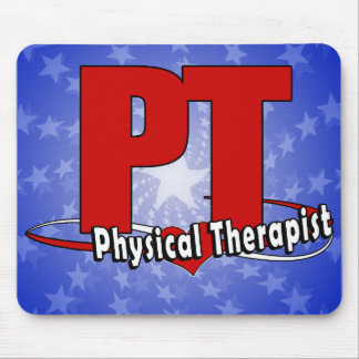 PT LOGO BIG RED    Physical Therapist Mouse Pad