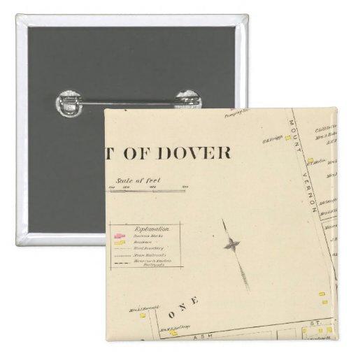 Pt of Dover Ward 1 2 Inch Square Button