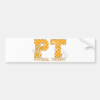 pt orange white polka dots bumper sticker