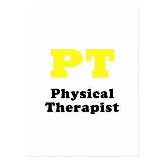 PT Physical Therapist Postcard