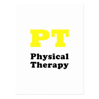 PT Physical Therapy Postcard