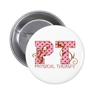 pt pink and brown polka dots pins