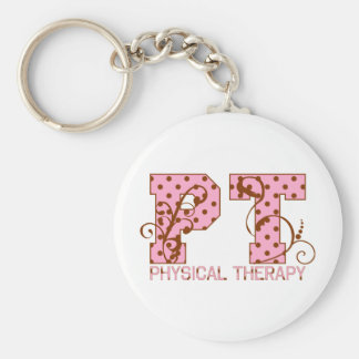 pt pink and brown polka dots key chains