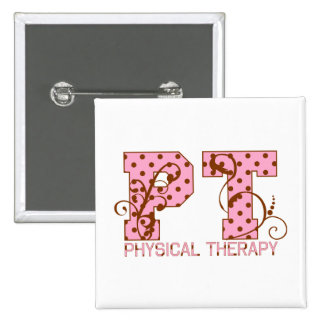 pt pink and brown polka dots pinback button