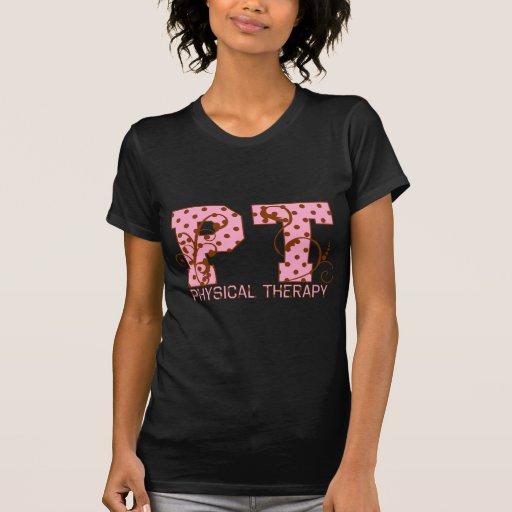 pt pink and brown polka dots tees