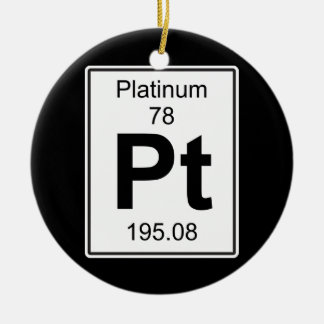 Pt - Platinum Ceramic Ornament