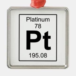 Pt - Platinum Metal Ornament