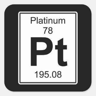Pt - Platinum Square Sticker