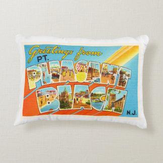 Pt Pleasant Beach New Jersey NJ Vintage Postcard- Decorative Pillow