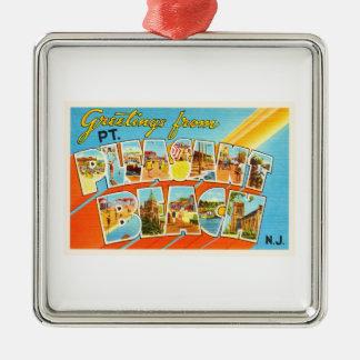 Pt Pleasant Beach New Jersey NJ Vintage Postcard- Metal Ornament