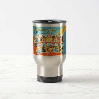 Pt Pleasant Beach New Jersey NJ Vintage Postcard- Travel Mug