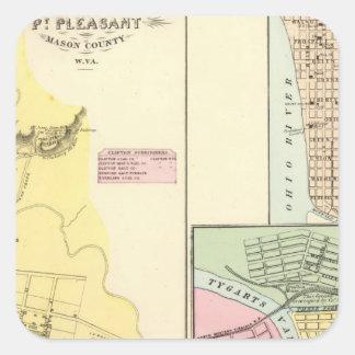 Pt Pleasant, West Virginia Square Sticker