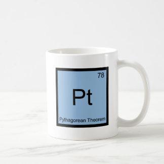 Pt - Pythagorean Theorem Chemistry Element Symbol Coffee Mug