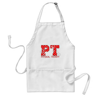 pt red white polka dots adult apron