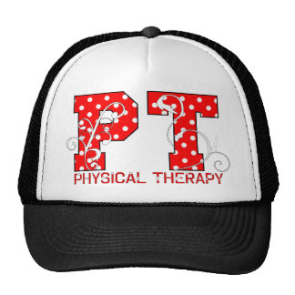 pt red white polka dots trucker hat