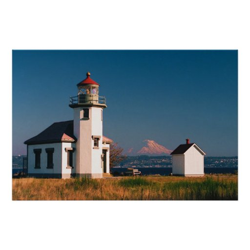 Pt Robinson Light House, Maury Island, Washington Posters