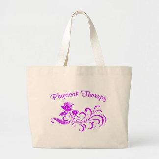 pt rose scroll purple bag