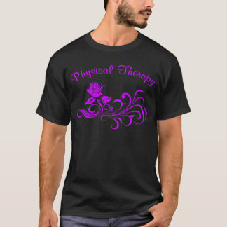 pt rose scroll purple T-Shirt