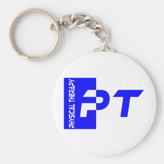 pt royal blue basic round button keychain