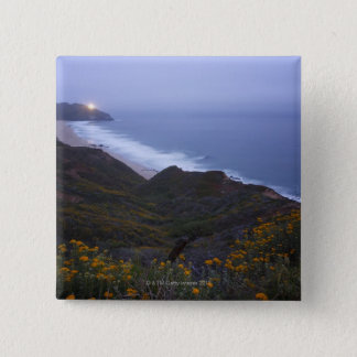 Pt. Sur Lightstation and flowering chapparal, Pinback Button