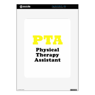 PTA Physical Therapy Assistant Decals For The iPad