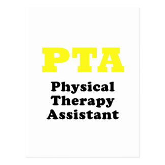PTA Physical Therapy Assistant Postcard