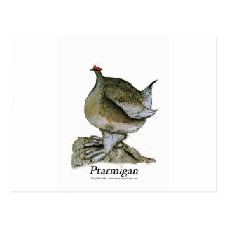 Ptarmigan bird, tony fernandes postcard