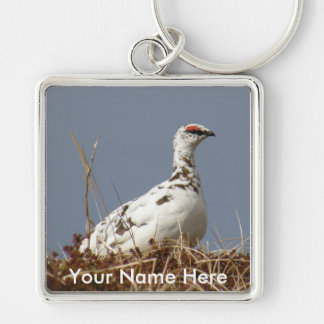 Ptarmigan in Early Spring Keychain