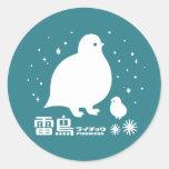 Ptarmigan Round Stickers