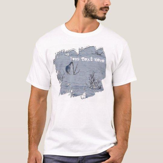 Ptarmigan Snacking; Customizable T-Shirt