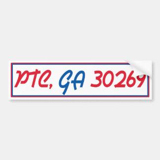 PTC GA 30269 (text) Bumper Sticker