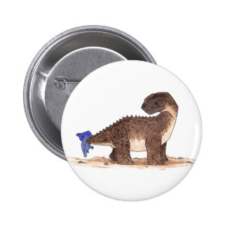 Pteranodon and Camarasaurus Pinback Button