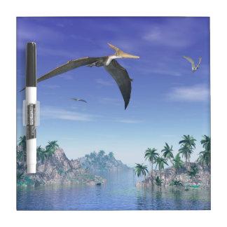 Pteranodon birds  - 3D render Dry Erase Board