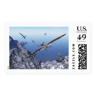 Pteranodon birds - 3D render Postage