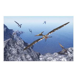 Pteranodon birds - 3D render Stationery