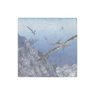 Pteranodon birds - 3D render Stone Magnet