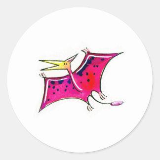 Pteranodon Classic Round Sticker