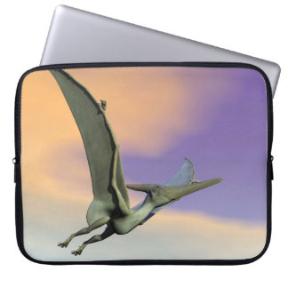 Pteranodon dinosaur flying - 3D render Laptop Sleeve
